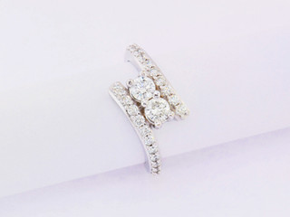14k white gold 1.05ct total weight common prong