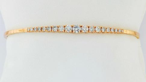 14k rose gold 1.0ct total weight diamond bracelet