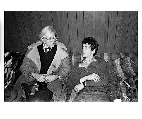 "Lou Reed Andy Warhol NYC 1976 © Mick Rock  11""x14"" $1,200 USD (limited edition of 90)  16""x20"" $2,000 USD (limited edition of 90)  20""x24"" $2,500 USD (limited edition of 50)  24""x30"" $4,000 USD (limited edition of 35)  30""x40"" $7,000 USD (limited edition of 25)  40""x60"" $12,000 USD (limited edition of 10)"