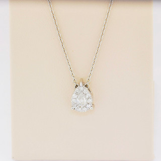 14k white gold, .30ct total weight diamond pendant