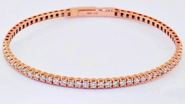 14k rose gold 1.71ct total weight diamond bracelet