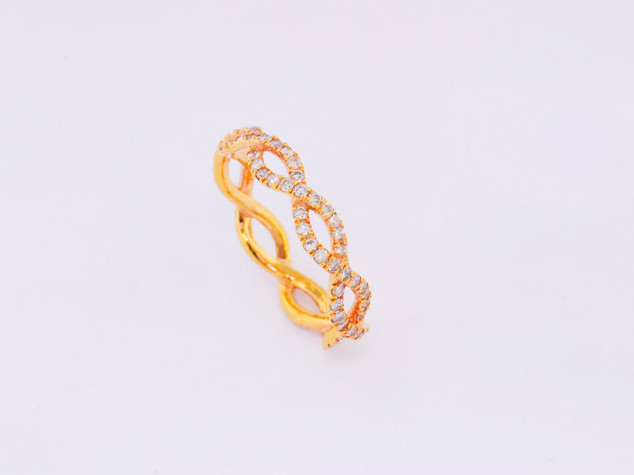14k rose gold, .93ct total weight, micro pavé diamond ring