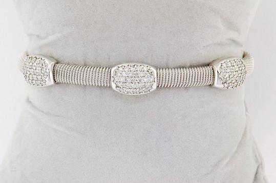 14k white gold 1.40ct total weight diamond bangle bracelet