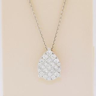 18k white gold, 1.02ct total weight diamond pendant