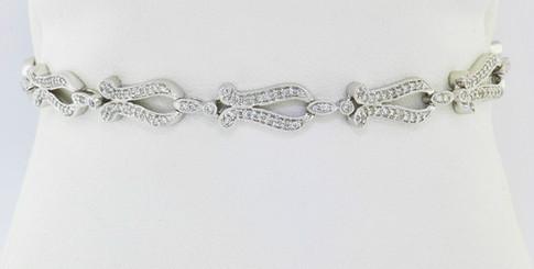 14k white gold 1.50ct total weight, diamond bracelet