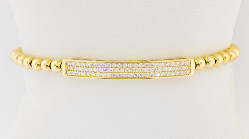 14k yellow gold .83ct total weight diamond bracelet