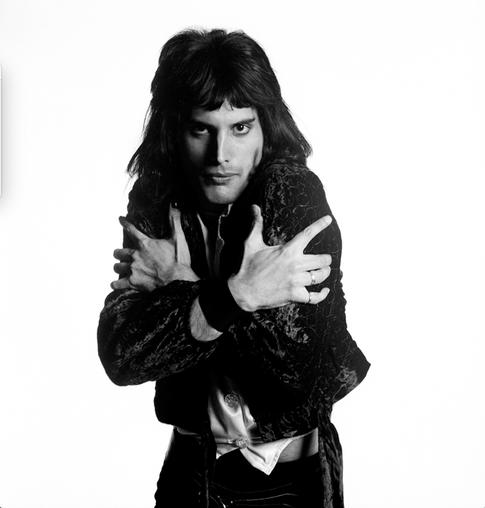 """Freddie Mercury Holding Himself London 1974 © Mick Rock  11""""x14"""" $1,200 USD (limited edition of 90)  16""""x20"""" $2,000 USD (limited edition of 90)  20""""x24"""" $2,500 USD (limited edition of 50)  24""""x30"""" $4,000 USD (limited edition of 35)  30""""x40"""" $7,000 USD (limited edition of 25)  40""""x60"""" $12,000 USD (limited edition of 10)"""