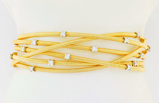 14k two tone, white and yellow gold .72ct total weight diamond bracelet