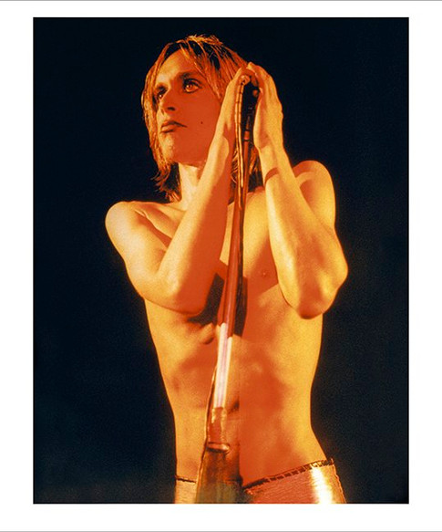 """Iggy Pop, Raw Power Cover, La Scala, London 1972 © Mick Rock  11""""x14"""" $1,200 USD (limited edition of 90)  16""""x20"""" $2,000 USD (limited edition of 90)  20""""x24"""" $2,500 USD (limited edition of 50)  24""""x30"""" $4,000 USD (limited edition of 35)  30""""x40"""" $7,000 USD (limited edition of 25)  40""""x60"""" $12,000 USD (limited edition of 10)"""