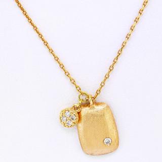 14k rose gold .05ct total weight diamond pendants