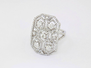 18k white gold 1.91ct total weight diamond ring