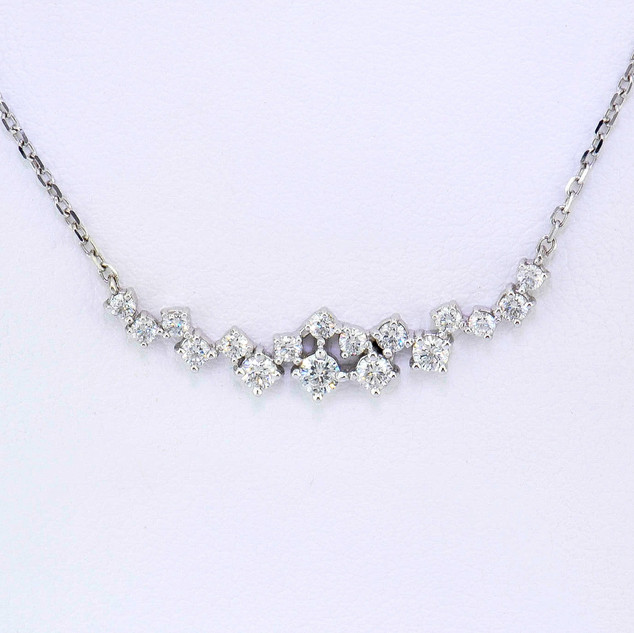 14k white gold .50ct total weight diamond necklace