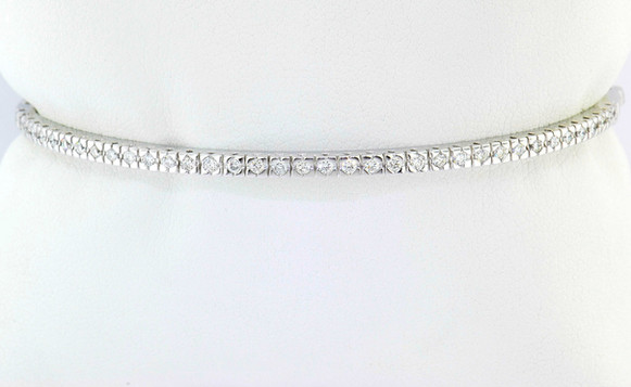14k white gold 1ct total weight diamond bracelet
