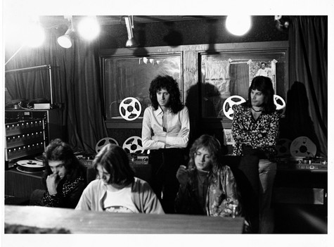 """Queen Recording London 1975 © Mick Rock  11""""x14"""" $1,200 USD (limited edition of 90)  16""""x20"""" $2,000 USD (limited edition of 90)  20""""x24"""" $2,500 USD (limited edition of 50)  24""""x30"""" $4,000 USD (limited edition of 35)  30""""x40"""" $7,000 USD (limited edition of 25)  40""""x60"""" $12,000 USD (limited edition of 10)"""