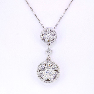 18k white gold 1.12ct total weight, diamond necklace