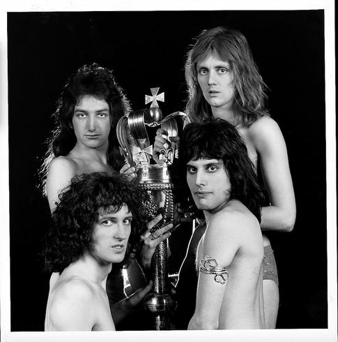 "Queen London Nov 1973 Topless With Sceptre © Mick Rock  11""x14"" $1,200 USD (limited edition of 90)  16""x20"" $2,000 USD (limited edition of 90)  20""x24"" $2,500 USD (limited edition of 50)  24""x30"" $4,000 USD (limited edition of 35)  30""x40"" $7,000 USD (limited edition of 25)  40""x60"" $12,000 USD (limited edition of 10)"