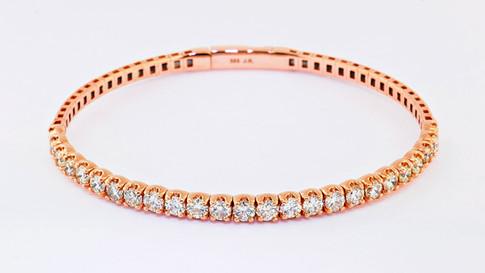 14k rose gold 3.13 total weight diamond bracelet