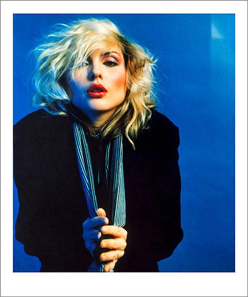 "Blue Debbie Harry NYC 1978 © Mick Rock  11""x14"" $1,200 USD (limited edition of 90) 16""x20"" $2,000 USD (limited edition of 90) 20""x24"" $2,500 USD (limited edition of 50) 24""x30"" $4,000 USD (limited edition of 35) 30""x40"" $7,000 USD (limited edition of 25) 40""x60"" $12,000 USD (limited edition of 10)"