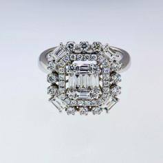 18k 6.18ct white gold and diamond ring