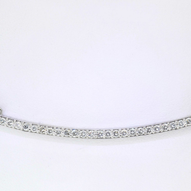 14k white gold .29ct total weight diamond bar necklace