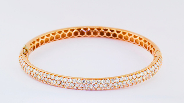 14k rose gold, 3.95ct total weight, micro pavé bracelet