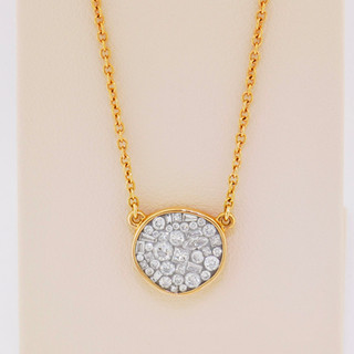 18k rose gold, .60ct total weight diamond pendant