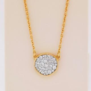 18k rose gold, .60ct total weight diamond pendant