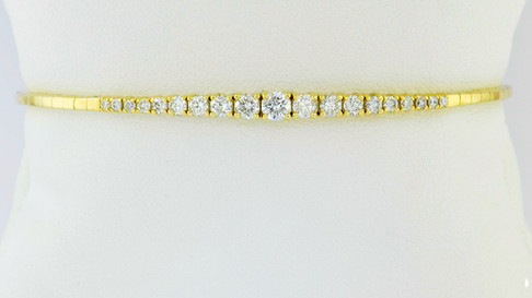 14k yellow gold 1.0ct total weight diamond bracelet