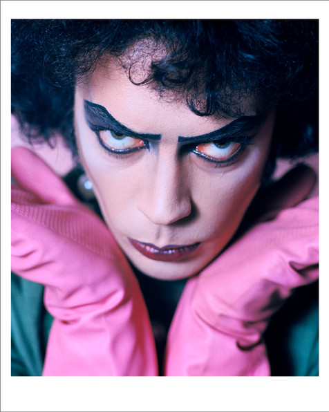 """Tim Curry, Rocky Horror Picture Show, Bray Studios 1974 © Mick Rock  11""""x14"""" $1,200 USD (limited edition of 90) 16""""x20"""" $2,000 USD (limited edition of 90) 20""""x24"""" $2,500 USD (limited edition of 50) 24""""x30"""" $4,000 USD (limited edition of 35) 30""""x40"""" $7,000 USD (limited edition of 25) 40""""x60"""" $12,000 USD (limited edition of 10)"""