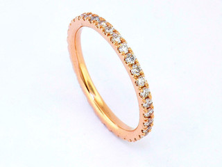 14k rose gold .82ct total weight eternity band
