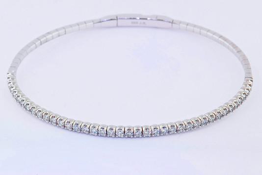 14k white gold, 1.20ct total weight diamond bracelet