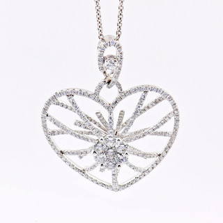 18k white gold 1.40ct total weight diamond necklace