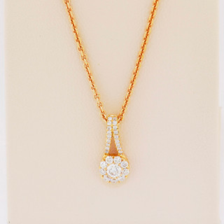 18k rose gold, .26ct total weight pendant