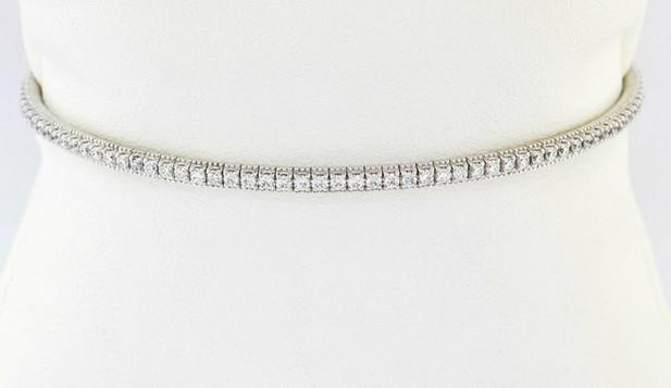 14k white gold 1.0ct total weight diamond bracelet