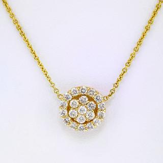 14k yellow .63ct total weight, diamond pendant