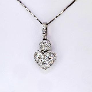 18k white gold 1.31ct diamond pendant