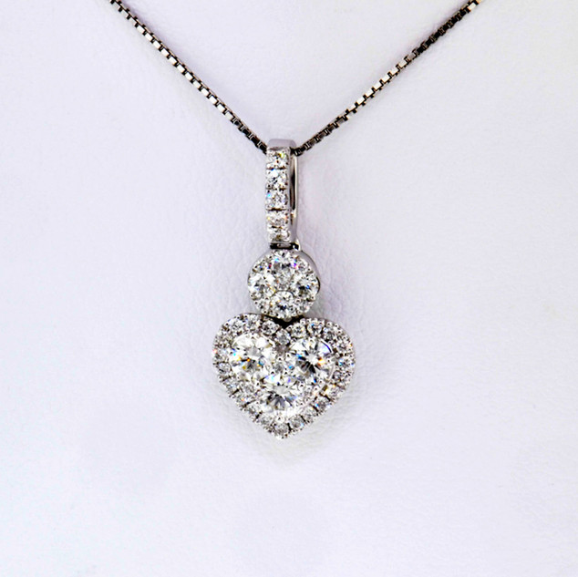 18k white gold 1.31ct diamond pendant