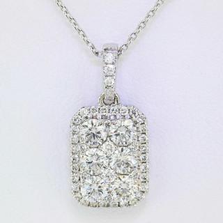 18k white gold 1.06ct total weight diamond pendant