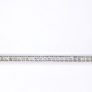 14k white gold .45ct total weight, diamond bar necklace