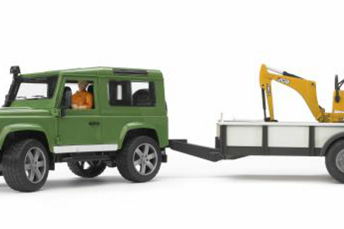 Land Rover with Trailer & Mini Ex (Bruder)
