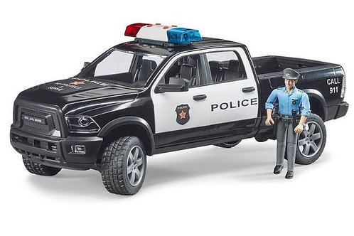 Bruder Police Ram 2500 w/ Policeman + Light and Sound Module