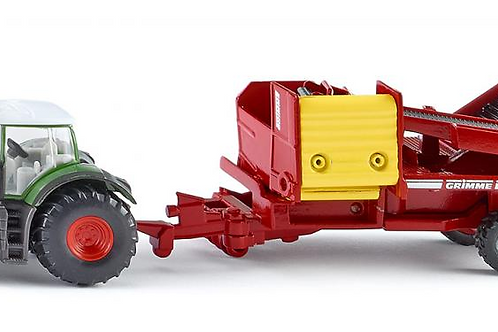 Fendt with Potato Harvester