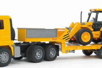 MAN Semi, Trailer & Backhoe (Bruder)