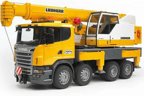 Scania Liebherr Crane Truck with Lights & Sound (Bruder)