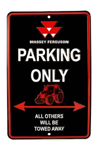 MF Parking Sign