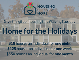 #GivingTuesday Home for the Holidays