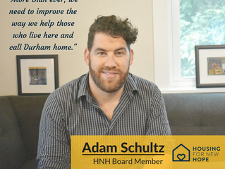 "Adam Schultz Shares his ""Why"" for Supporting Housing for New Hope"
