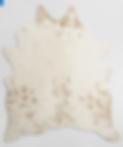 1_ivory printed faux cowhide area rug 5x