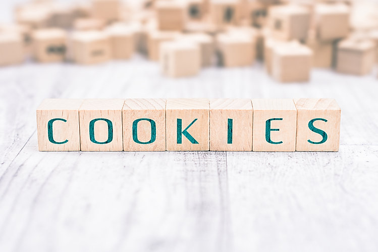 The Word Cookies Formed By Wooden Blocks