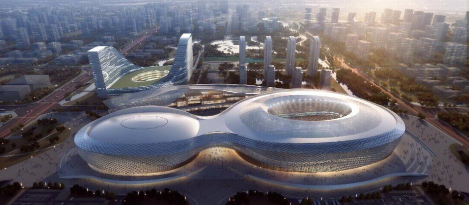 BIM ecológico molda a construção de um espaço esportivo icônico na China